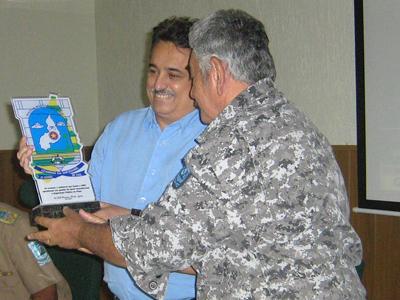 Secretário Robert Rios e Coronel Prado